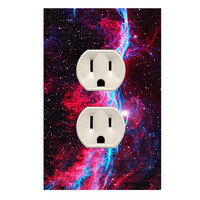 Wall Plug Cover Decal Outlet Galaxy Room Decor OU21