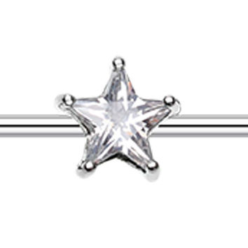Glass-Gem Star Industrial Barbell