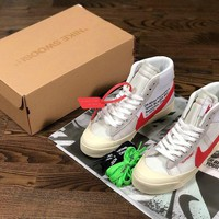 Off-White Nike Supreme white red