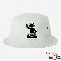 DJ Turntables 6 bucket hat