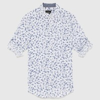 VOILE SHIRT WITH SLEEVE TABS - Short Sleeves-SHIRTS-MAN | ZARA United Kingdom