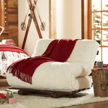Sherpa Faux Fur Fleece Futon