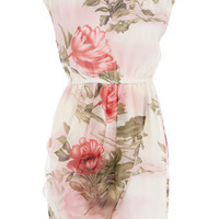 Cream floral wrap skirt dress - View All - Dorothy Perkins