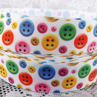 Button ribbon 1 inch grosgrain button ribbon