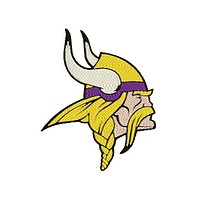 "Patch Craft - Minnesota Vikings - (3.9"" x 3.2"" Complete Stitches, Iron On patch)"