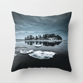 Only pieces left Throw Pillow by happymelvin