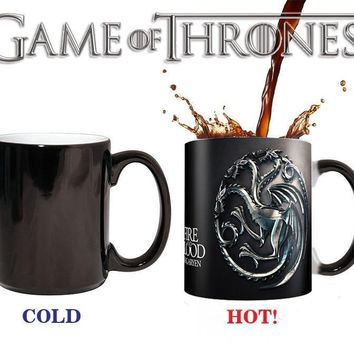 Drop shipping New Arrival Game of thrones Winter is coming Fire and Blood coffee mugs changing cup