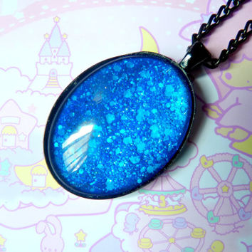 Blue Fire Necklace