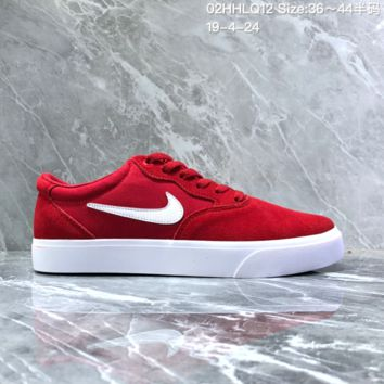 HCXX N1535  WMNS NIKE SB CHRON SLR Low Casual Skateboard Shoes Red