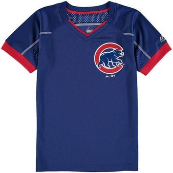 Youth Chicago Cubs Majestic Royal Emergence T-Shirt