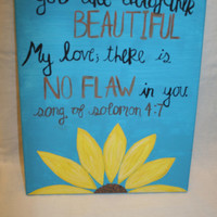Song of Solomon 4:7 Canvas Painting