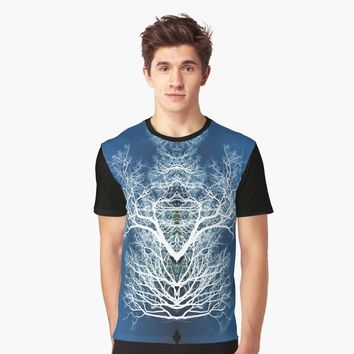'Silhouetted tree pattern' Graphic T-Shirt by steveball
