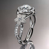 AMAZING 2.40CT WHITE ROUND STUD 925 STERLING SILVER ENGAGEMENT AND WEDDING RING