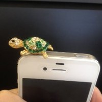1 X Turtle Earphone 3.5 Mm Ear Cap Dock Dust Plug for Apple Iphone Ipod Cell Phone