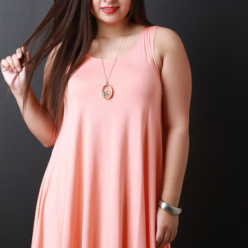 Relaxed Fit Longline Sleeveless Top