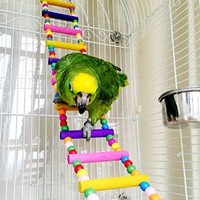 Oneplus Color Parrots Bird Toy Flexible Ladder, 4 Inch W by 31.5 Inch L