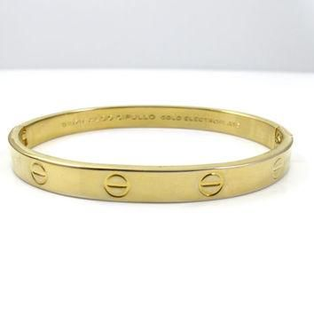 Cartier 1970 Love Bracelet Aldo Cipullo Charles Revson Bangle Bracelet Vintage Jewelry