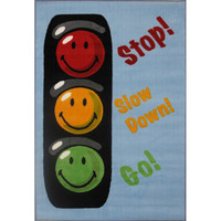 Fun Rugs Smiley World Collection Traffic Signal Area Rug