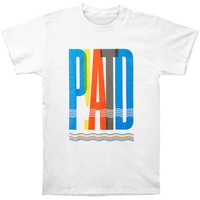 Panic! At The Disco Men's  PATD Overlap Slim Fit T-shirt White
