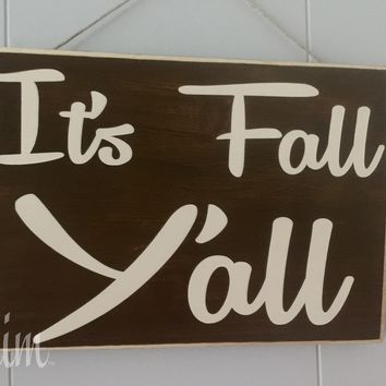 10x8 It's Fall Y'all Wood Sign