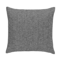 Charcoal Solid Herringbone Pillow by Lands Downunder