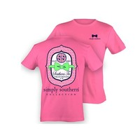 Simply Southern Southern Tie Pink T-Shirt | Palmetto Moon