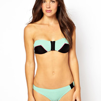 River Island Dakota Mint Bandeau Bikini Top