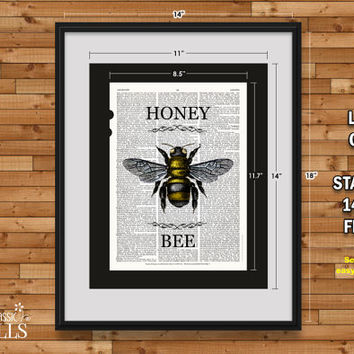 Shop Honey Bee Art On Wanelo