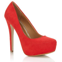 Sassy Red Court Shoe - Heels  - Shoes