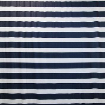 Navy Blue And White Stripes 8x10 - LCTCSL348 Last Call