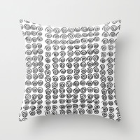 Spiral Throw Pillow by Geryes