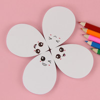 1pcs Cute Water Drop Face Expression Self Adhesive Memo Pad Sticky Notes Sticker Label Notepad School Office Stationery