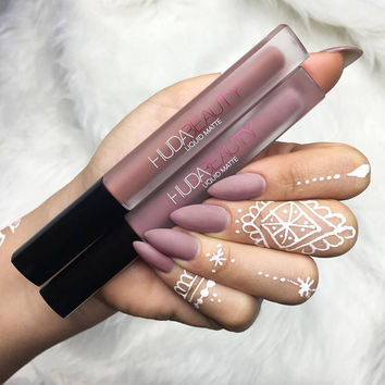 Lip Huda Beauty Liquid Matte Lipstick 9 Colors Beauty Lip Gloss Makeup Lip Stick Comstics