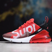 Supreme x Nike Air Max 270 Men Women Running Sneaker