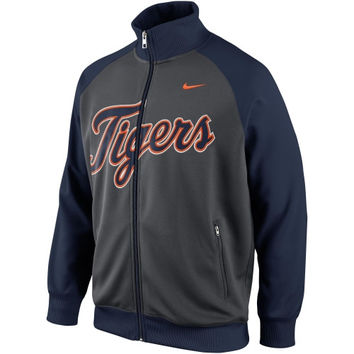 Nike Detroit Tigers 2014 Full Zip Track Jacket - Gray/Navy Blue