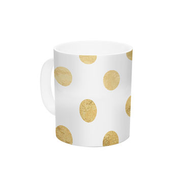 "KESS Original ""Scattered Gold"" Ceramic Coffee Mug"