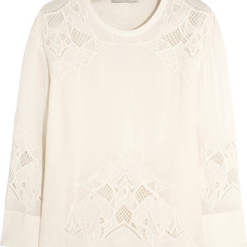 IRO - Devana embroidered crepe top