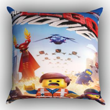 The Lego Movie Logo Zippered Pillows  Covers 16x16, 18x18, 20x20 Inches