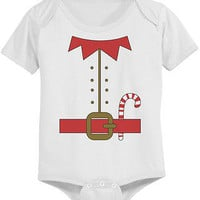 Cute Elf Outfit Baby Bodysuit - Pre-Shrunk Cotton Snap-On Style Baby Onesuit