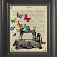Sewing machine -printed on Friendship page. 250Gram paper.