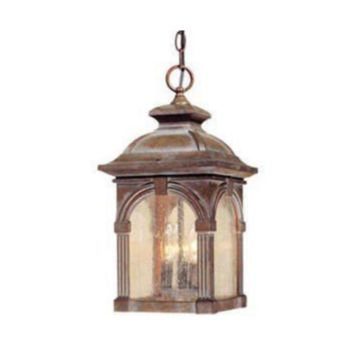 "3-Light 18"" Royal Bronze Outdoor Pendant Light Gothic Harry Potter Style"