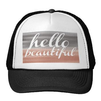 Hello Beautiful Girls Trucker Hat
