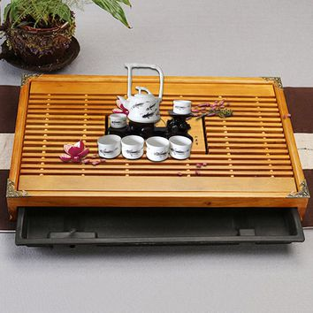 Tea Tray Drainage Water Storage Wood Tea Set Room Board Table Chinese Tea Cup Ceremony Tools Hotel Wedding Supplies