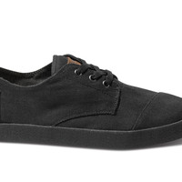 TOMS Black on Black Canvas Men's Paseos Black