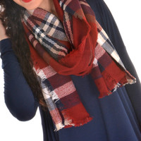 Keep Me Close Scarf - Dark Red