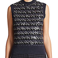 Marc Jacobs - Sequin Wool Jacquard Sleeveless Shell - Saks Fifth Avenue Mobile