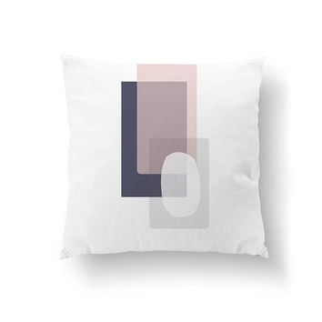Pink Purple, Simple Design, Pastel Colors, Cushion Cover, Abstract Decor, Throw Pillow, Geometric Textures, Home Decor, Decorative Pillow