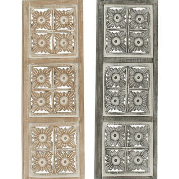 """Gorgeous Wood Metal Wall Panel 2 Assorted 12""""W, 36""""H"""