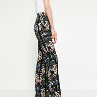 FLORAL PRINT TROUSERS - View All-TROUSERS-WOMAN | ZARA United Kingdom