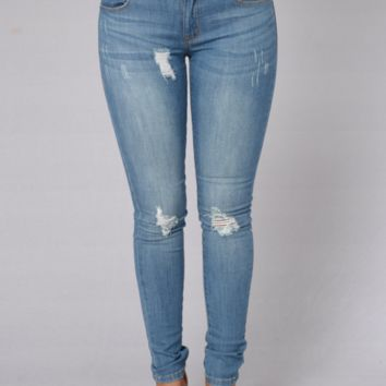 The Perfect Match, Light Distressed Jeans